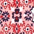 Kim Rogers® Women Sale: Coral Combo Kim Rogers Medallion Print Henley Top