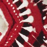 Kim Rogers Women Sale: Red/Khaki Kim Rogers Printed Split Neck Knit Top