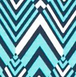 Kim Rogers Women Sale: Turq/Navy/White Kim Rogers Chevron Printed Long Sleeve Top