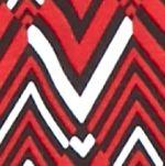 Kim Rogers Women Sale: Red/Black/White Kim Rogers Chevron Printed Long Sleeve Top