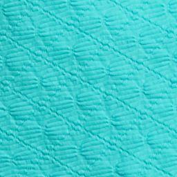 Kim Rogers Women Sale: Lagoon Turq Kim Rogers Solid Square Neckline Texture Top