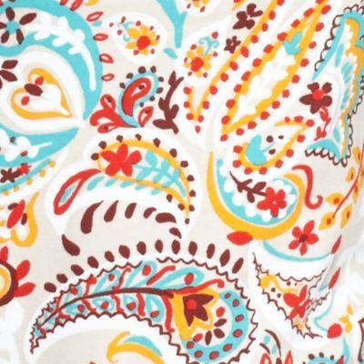 Kim Rogers Women Sale: Stone Combo Kim Rogers Three-Quarter Sleeve Paisley Top