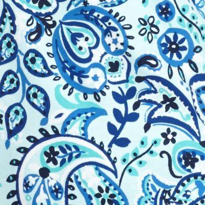 Kim Rogers Women Sale: Turquoise Combo Kim Rogers Three-Quarter Sleeve Paisley Top