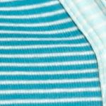 Kim Rogers Women Sale: Turquoise/Ivory/Aqua Kim Rogers Henley Mix Stripe Knit Top