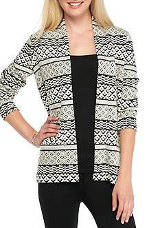Kim Rogers Long Sleeve Aztec Stripe Jacquard Cardigan