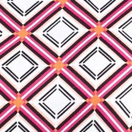 Women's T-shirts: Fuchsia/Black Kim Rogers Electric Geo Print Tee