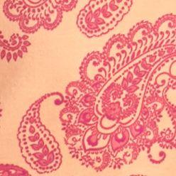 Women's T-shirts: Peach/Pink Kim Rogers Paisley Print Tee