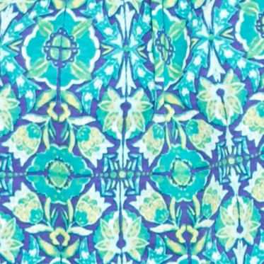 Kim Rogers Women Sale: Turquoise/Purple Kim Rogers Embroidered Yoke Garden Print Tank