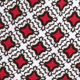 Kim Rogers Women Sale: Red Mercury/Stone Kim Rogers Moroccan Geo Sleeveless Peasant Top