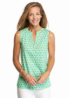 Kim Rogers Mosaic Print Knit Tank