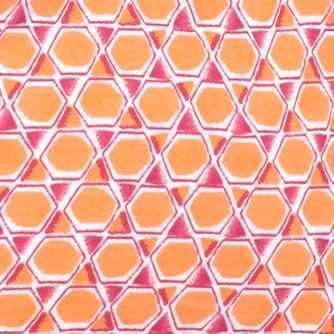 Kim Rogers Women Sale: Fuchsia/Orange Kim Rogers Mosaic Print Knit Tank