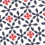 Kim Rogers Women Sale: Navy/Red Kim Rogers Sleeveless Geo Print Knit Tank