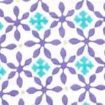 Kim Rogers Women Sale: Purple/Turq Kim Rogers Sleeveless Geo Print Knit Tank