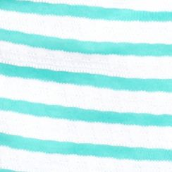 Women's T-shirts: Rural Turquoise/White Kim Rogers Short Sleeve Striped Jacquard Tee