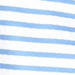Women's T-shirts: Arctic Blue/White Kim Rogers Short Sleeve Striped Jacquard Tee
