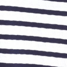 Women's T-shirts: Harbor Navy/White Kim Rogers Short Sleeve Striped Jacquard Tee