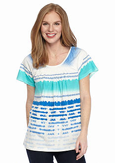 Kim Rogers Peasant Ombre Striped Top