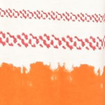 Kim Rogers Women Sale: Pink/Orange Kim Rogers Peasant Ombre Striped Top