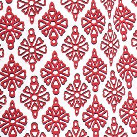 Kim Rogers Women Sale: White/Red Kim Rogers Short Sleeve Peasant Allie Geo Knit Top