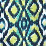 Kim Rogers Women Sale: Yummy Green/Turquoise Kim Rogers Festival Ikat Peasant Top
