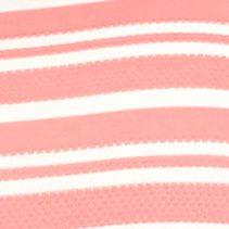 Kim Rogers Women Sale: Sorbet Fun/White Kim Rogers Jacquard V-Neck Striped Knit Top