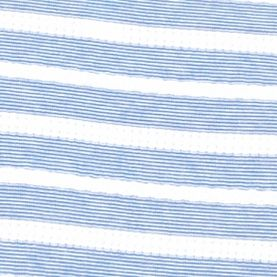 Women's T-shirts: Blue Ridge/White Kim Rogers Jacquard Striped Tee
