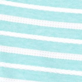 Women's T-shirts: Rural Turquoise/White Kim Rogers Jacquard Striped Tee