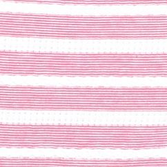 Women's T-shirts: Fuschia Luv/White Kim Rogers Jacquard Striped Tee
