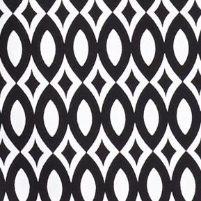 Women's T-shirts: Black/White Kim Rogers Short Sleeve Geometric Top