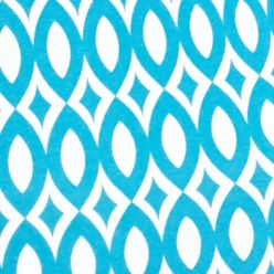 Women's T-shirts: Turquoise/White Kim Rogers Short Sleeve Geometric Top