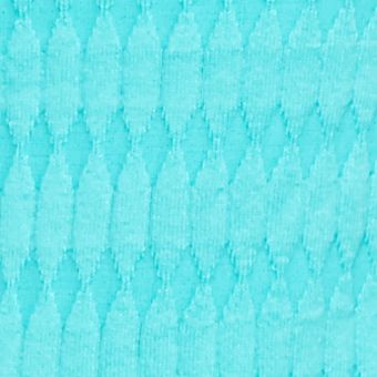 Kim Rogers Sweaters: Lagoon Turquoise Kim Rogers Oblong Jacquard Crew Neck Sweater