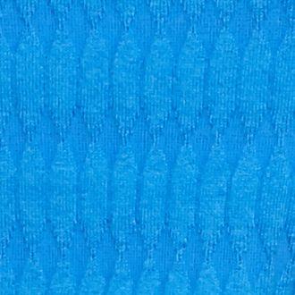 Kim Rogers Sweaters: Boggs Blue Kim Rogers Oblong Jacquard Crew Neck Sweater