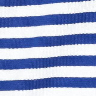 Kim Rogers Sweaters: Delta Blue/White Kim Rogers Boatneck Sweater