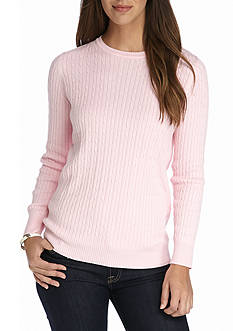 Kim Rogers Cable Crew Solid Top