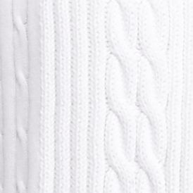 Kim Rogers Women Sale: White Kim Rogers Open Cardigan Cable Solid Top