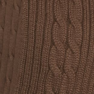 Kim Rogers Women Sale: Ranch Brown Kim Rogers Open Cardigan Cable Solid Top