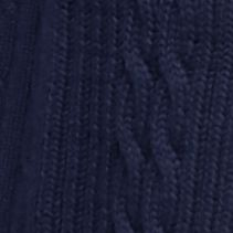 Kim Rogers Women Sale: Harbor Navy Kim Rogers Open Cardigan Cable Solid Top