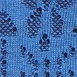 Ponchos for Women: Blue/Navy Kim Rogers Jacquard Cowl Neck Poncho
