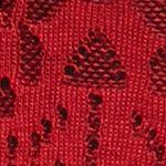 Ponchos for Women: Red/Black Kim Rogers Jacquard Cowl Neck Poncho