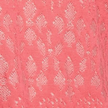 Ponchos for Women: Pink Sorbet/True Stone Kim Rogers Jacquard Cowl Neck Poncho