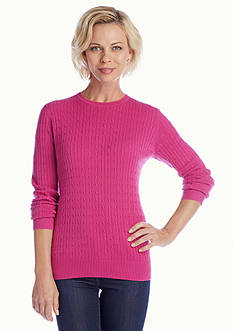 Kim Rogers® Solid Cable Sweater