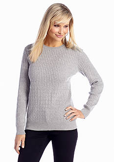 Kim Rogers® Cable Knit Pull On Sweater