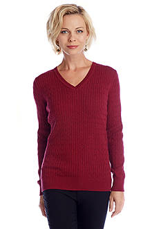 Kim Rogers® Marled Cable Sweater