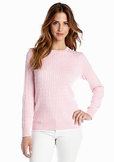Kim Rogers® Heathered Cable Sweater