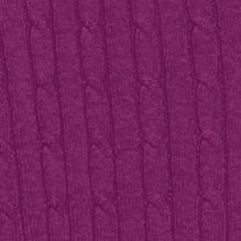 Kim Rogers: Plum Candy Kim Rogers Solid Cable Knit Sweater