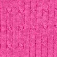 Kim Rogers: Pink Bolt Kim Rogers V-Neck Solid Cable Sweater