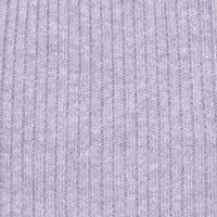 Kim Rogers: Purple Heather Kim Rogers Ribbed Turtleneck Heather Knit Top