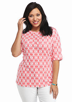Kim Rogers Plus Size Elbow Sleeve Knit Tunic