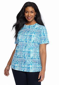 Kim Rogers Plus Size Tie Dye Knit Tee