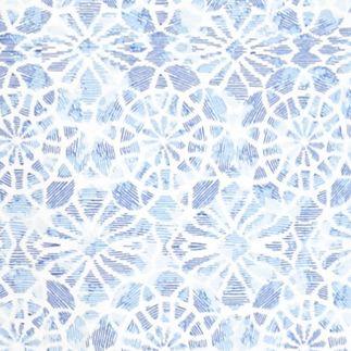 Plus Size Tees: Blue Combo Kim Rogers Plus Size Bali Medallion Tee